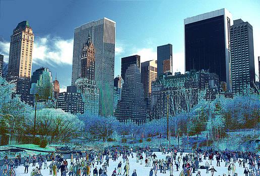 Skating Fantasy Wollman Rink New York City by Tom Wurl