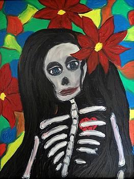 Skeleton Girl by Carlos Alvarado