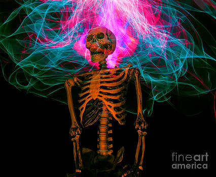 Skeleton light painting by Shawn  Bowen