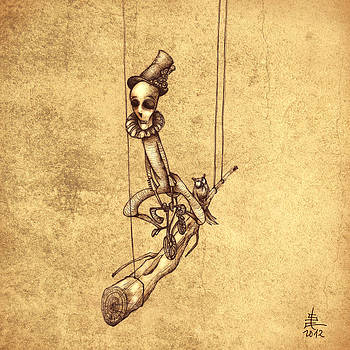 Skeleton On Cycle by Autogiro Illustration