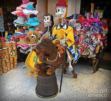 John Malone - Skelton Riding a Wooden Horse
