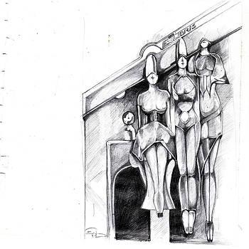 Sketch For Exlibris  by Ertan Aktas