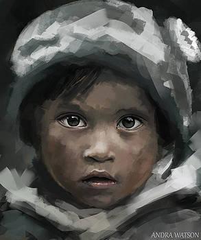 Sketch little Boy by Andra Watson