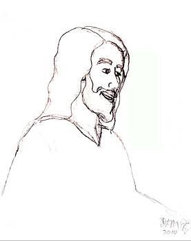 sketch of Jesus by Dawna Morton