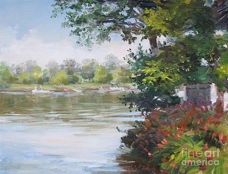 Sketch of Newboro Lake Canada by Michele Tokach