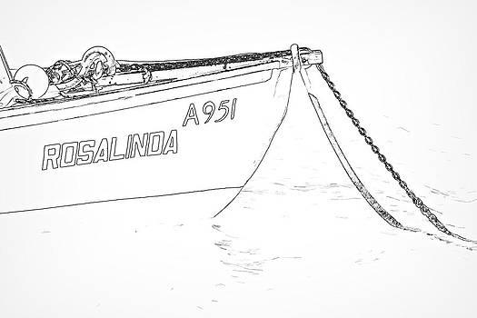 David Letts - Sketch of the Fishing Boat of Aruba Rosalinda