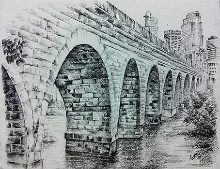 Sketch Stone Arch by Somnath Kundu