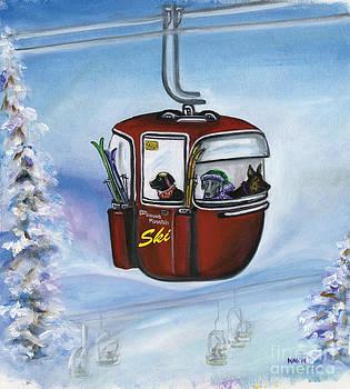 Ski Hound Mountain by Kim Arre-gerber