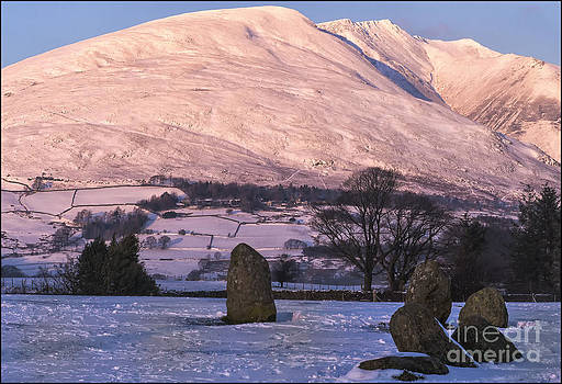 Skiddaw from Castlerigg Stone Circle by George Hodlin