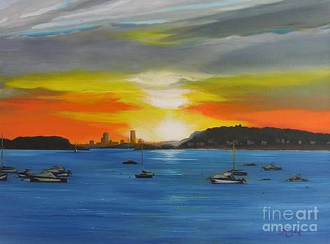 Skies over the City by Barbara Hayes