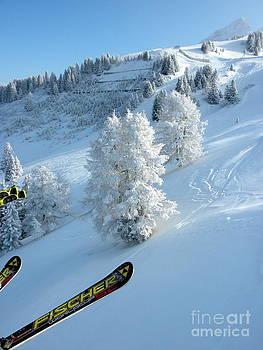 Skiing at Villars by Kate Stoupas