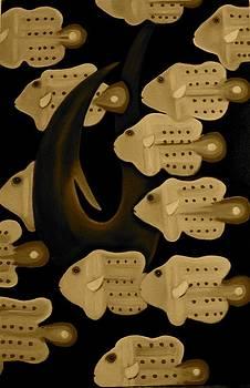 Skool of Fish by Frank B Shaner