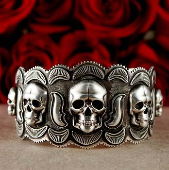Skull Cuff  by Gregory Segura