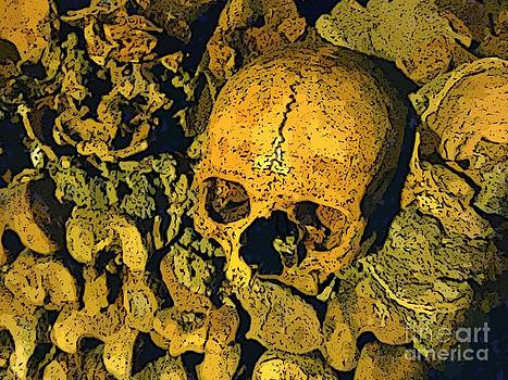 John Malone - Skull in Paris Catacombs