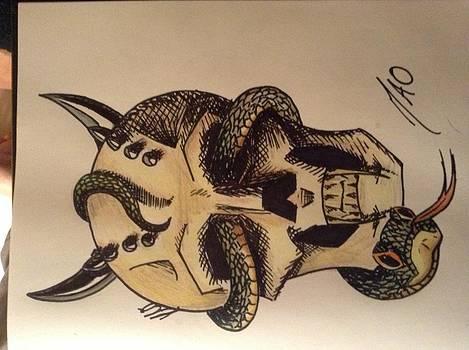 Skull by Maideline  Sanchez