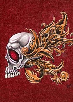 Skull with Filigree by Rik Hayes
