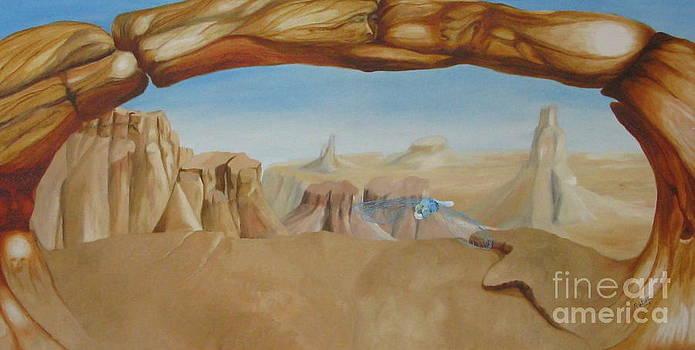 Sky Blue Dragonfly by Richard Dotson