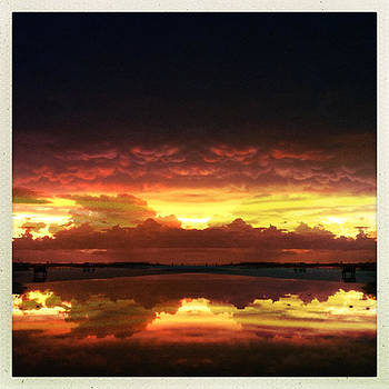 Sky Fire Siesta Key by Alison Maddex