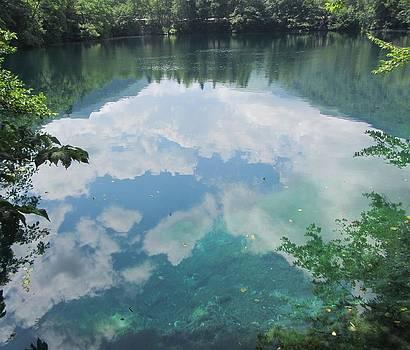 Sky in Blue Lake by Natalia Levis-Fox