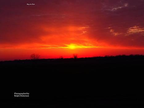 Sky on Fire by Ralph Dickerson
