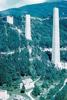 Sky Pillars 2 1962 by Cumberland Warden