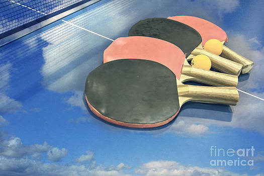 Beverly Claire Kaiya - Sky Ping-pong Clouds Table Tennis Paddles Rackets