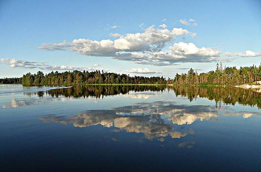 Sky Reflection by Dianne  Lacourciere