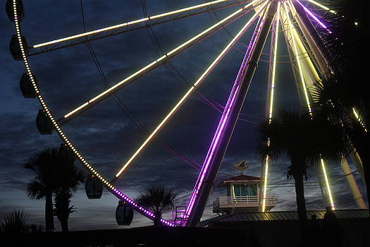 Sky Wheel at Night by Kris Napier
