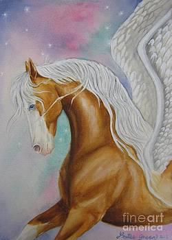 Skyhorse Aurora by Louise Green
