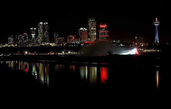 Skyline By Night by Ann Sharpe