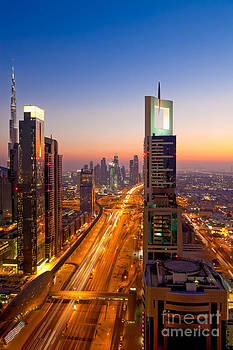 Fototrav Print - Skyline of Dubai at Sunset