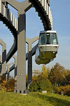 Skytrain Duesseldorf Germany by David Davies