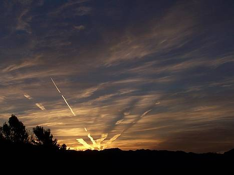 Skywriter Sunrise by Christine Drake