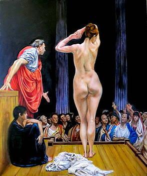 slave market after Jean Leon Gerome by Hidemi Tada