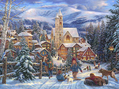 Sledding to Town by Chuck Pinson