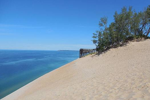 Sleeping Bear Dunes Observation Deck by Ted Lepczynski