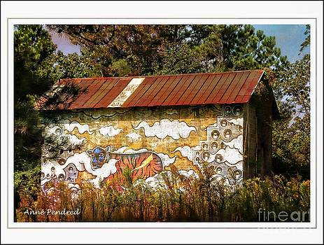 Sleeping cat on the barn by Anne Pendred