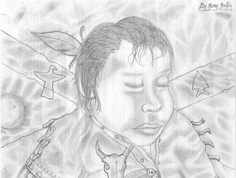 Sleeping Indian Baby Boy by Gerald Griffin