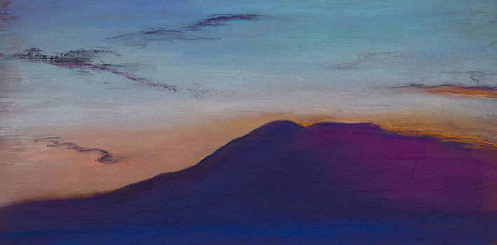 Sleeping Lady Orange Blue by Jocelyn Paine