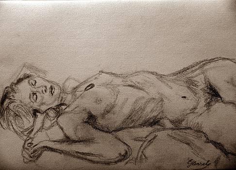 sleeping Venus 1 by Elke Hensel