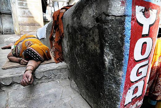 Sleeping yoga by Money Sharma