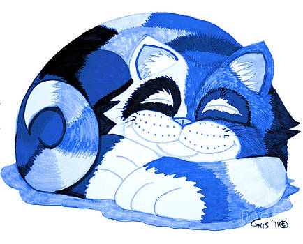 Nick Gustafson - Sleepy Blue Cat