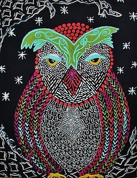 Sleepy Owl by Kelly Nicodemus-Miller