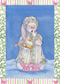 Sleepy-time Snowgal by Sher Sester