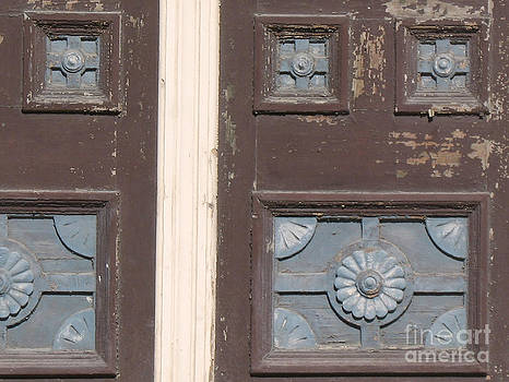 Connie Fox - Slightly Imperfect Double Doors. 19th Century Wood Carving