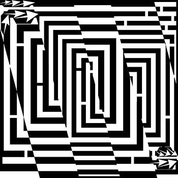 Slippery Slope Maze  by Yonatan Frimer Maze Artist
