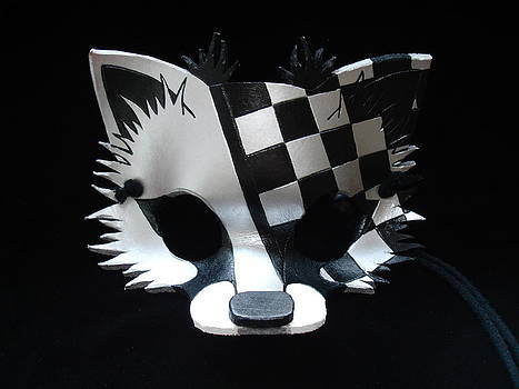 Sliver Checkered Fox by Fibi Bell