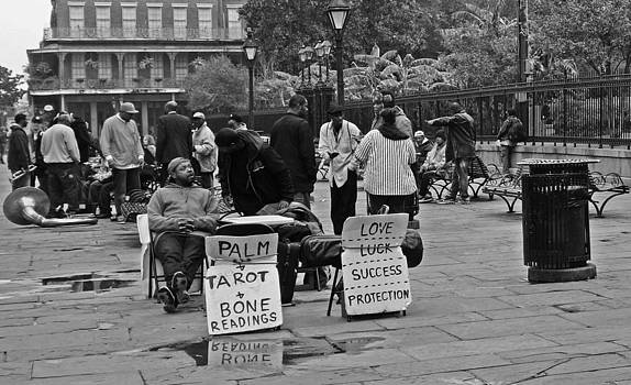 Slow Day on Jackson Square in New Orleans by Louis Maistros