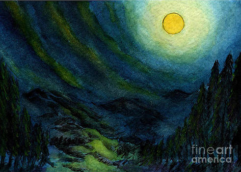 Sm013 Full Moon Over Mountain by Kirohan Art