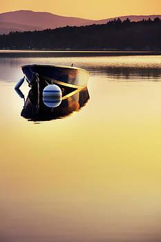 Jo Ann Snover - Small boat in sunrise light